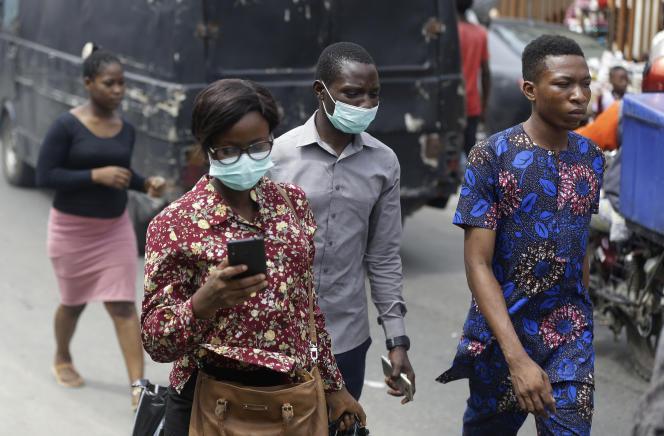 Vendredi 20 mars, un marché de Lagos, au Nigeria (AP Photo/Sunday Alamba)