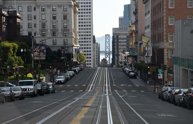 Le centre-ville de San Francisco (Californie), le 17 mars.