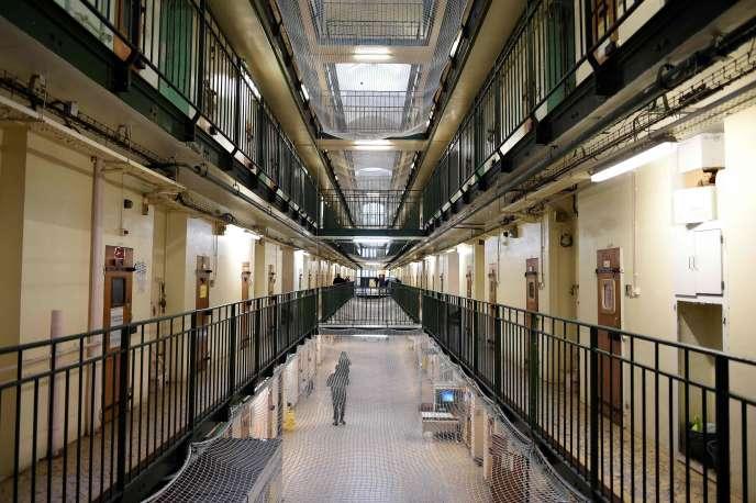A l'intérieur de la prison de Fresnes (Val-de-Marne), en janvier 2018.