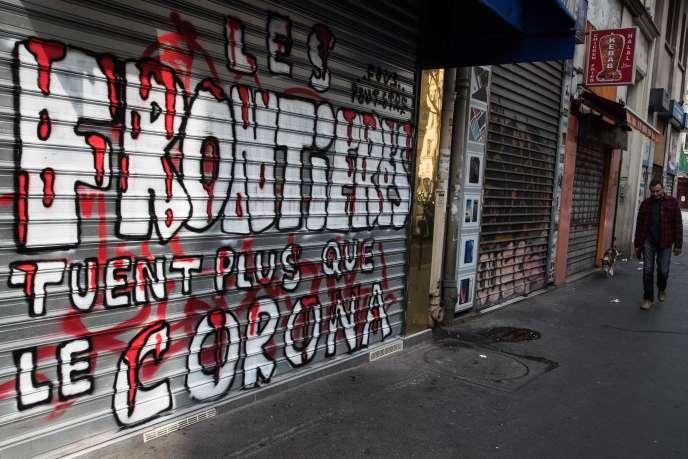 A Paris, le 20 mars. JOEL SAGET / AFP