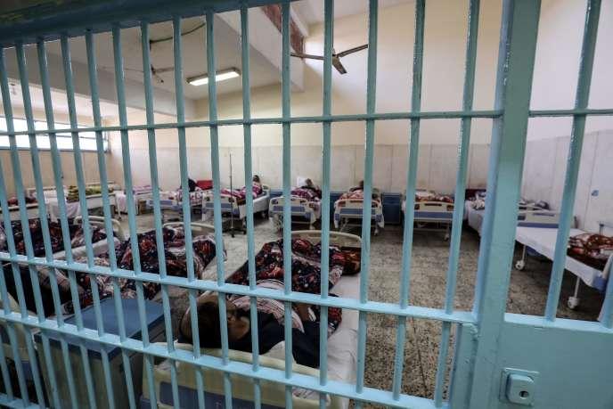 A l'infirmerie d'une prison égyptienne, près d'Alexandrie, en novembre 2019. Human Rights Watch a appelé à la libération de détenus en raison du risque épidémique.