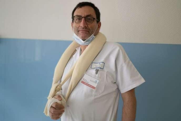 Mathias Wargon, chief of emergency at Delafontaine Hospital, Saint-Denis (Seine-Saint-Denis).