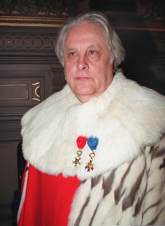 Pierre Truche, ancien président de la Cour de cassation,ici le 6 janvier 1993.