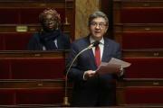 Le député de La France insoumise Jean-Luc Mélenchon, à l'Assemblée national, enmars 2020.