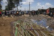 22 mars, le quartier de Kibera à Nairobi (Nigéria).