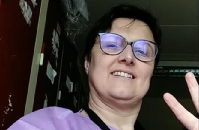 Claire Paris, infirmière au CHU de Nantes (Loire-Atlantique).