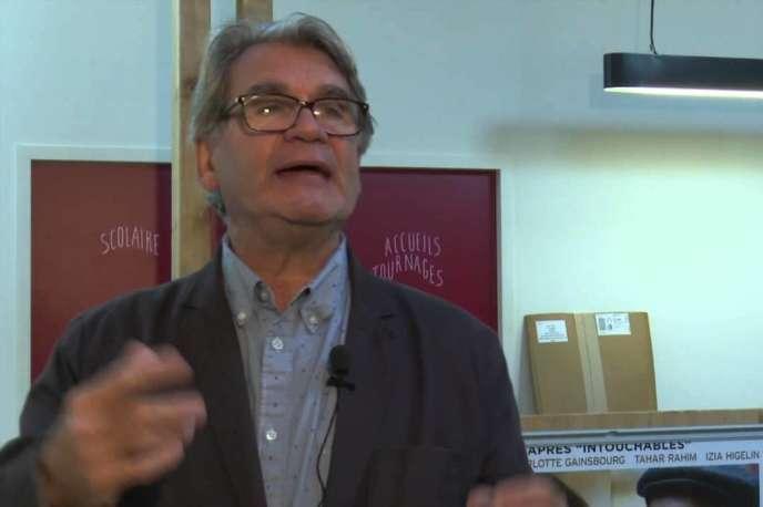 Le cinéaste Richard Copans lors d'un entretien vidéo, le 10 octobre 2014,réalisé à l'occasion de la projection de son film «Un amour» au17e festival Indépendance(s) et Création.