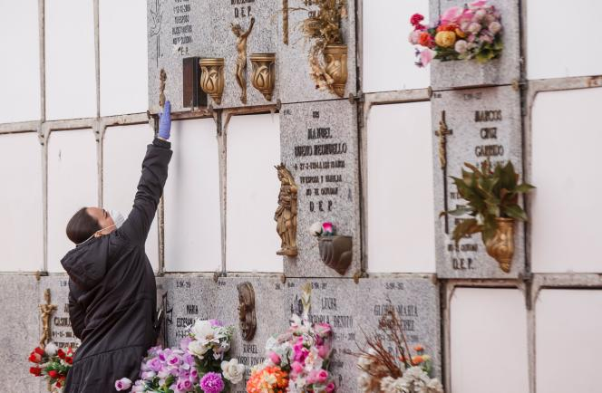 Dans un cimetière de Madrid.