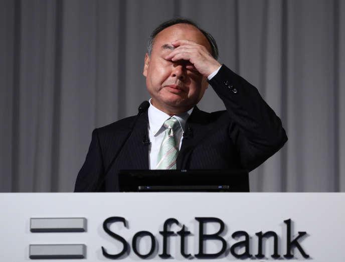 Le PDG de Softbank Masayoshi Son, à Tokyo, le 12 février 2020.