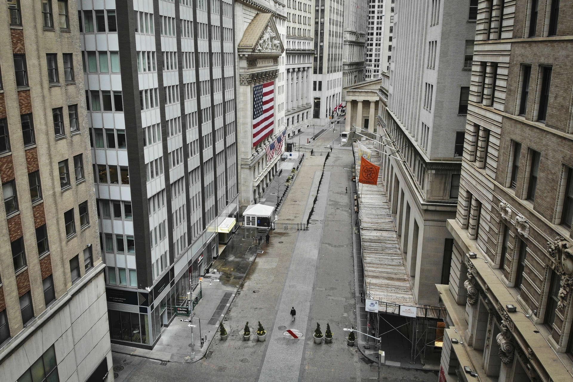 Wall Street à New York, Etats-Unis, le 21 mars.