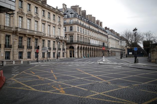 La rue de Rivoli, à Paris, le 22 mars.