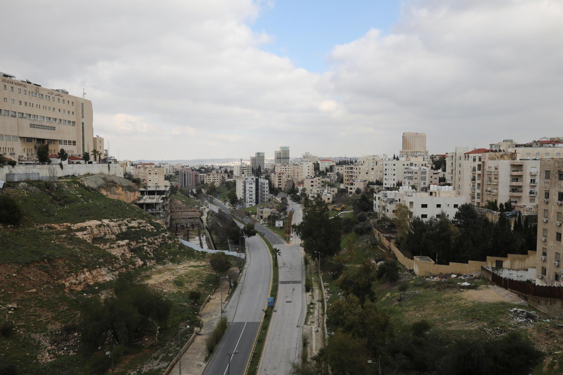 Les rues d'Amman, capitale de la Jordanie, le 22 mars.