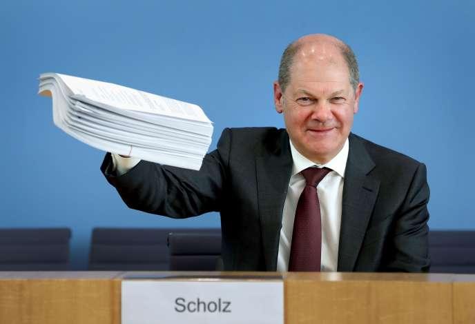 Le ministre allemand des finances, Olaf Scholz, à Berlin, le 23 mars.