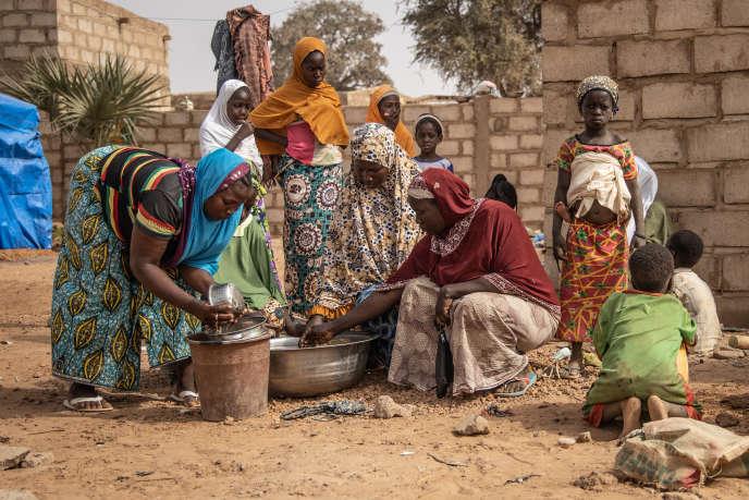 Camp de déplacés à Kaya, dans le nord du Burkina Faso, le 22 janvier 2020.