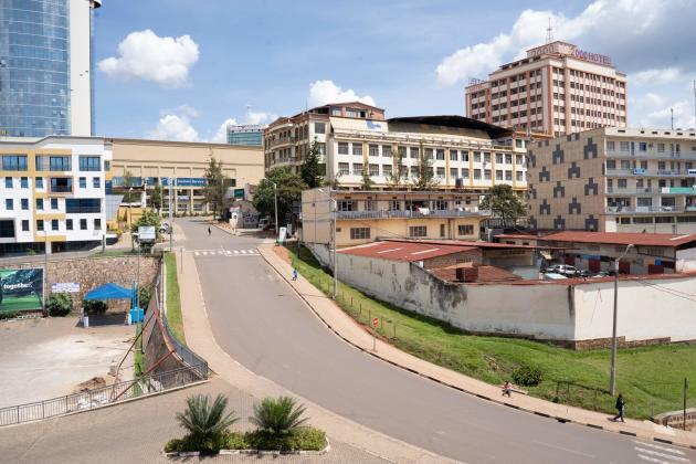 Dans les rues de Kigali, au Rwanda, le 22 mars.