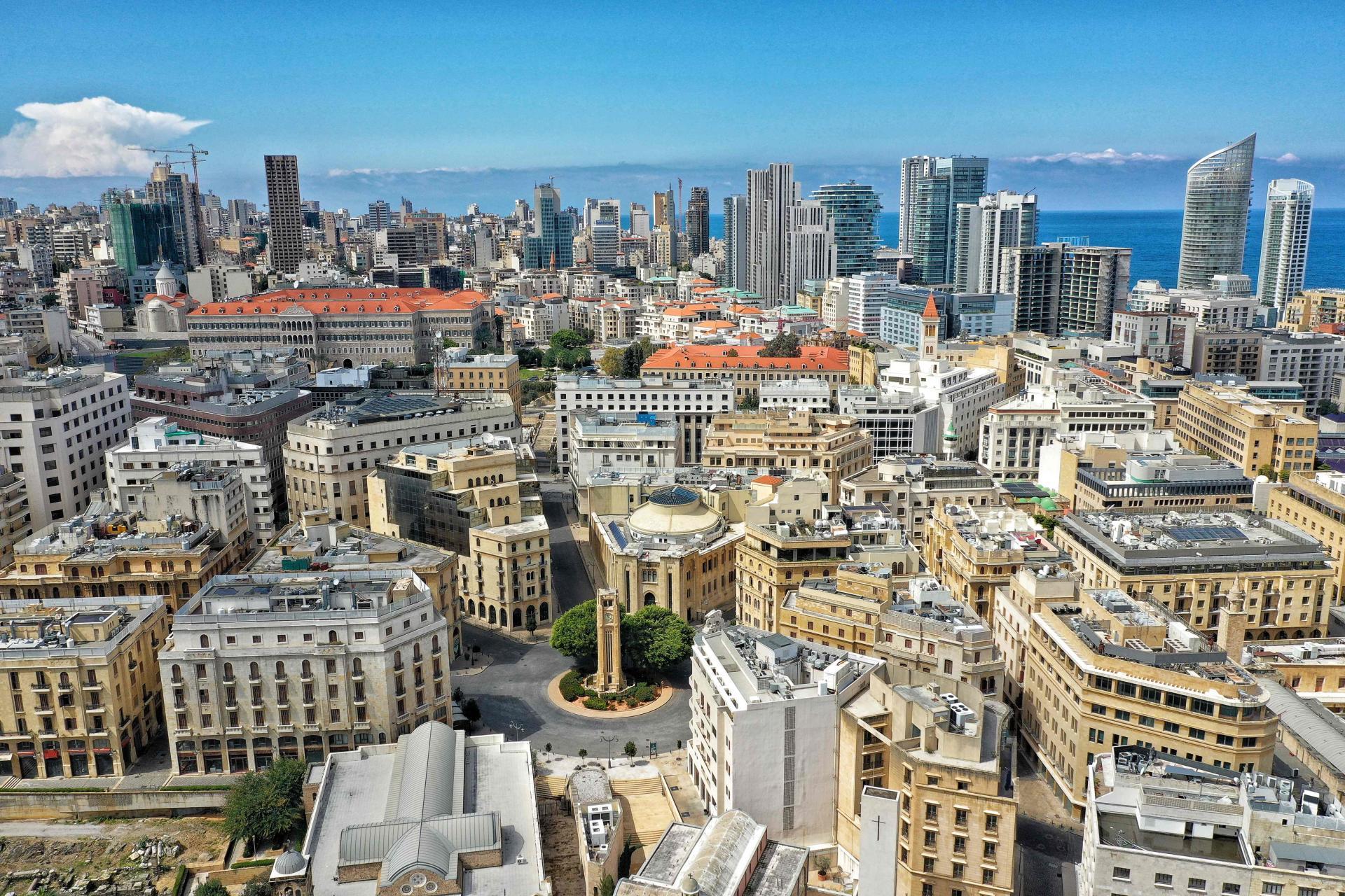 La place de l'Etoile (Sahet Al-Nejme) à Beyrouth, au Liban, le 21 mars.