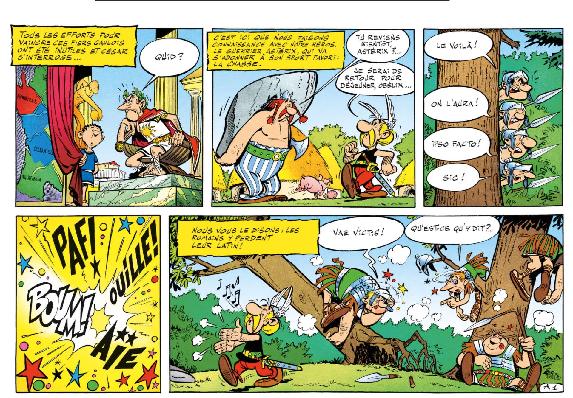 Extrait d'« Astérix le Gaulois».