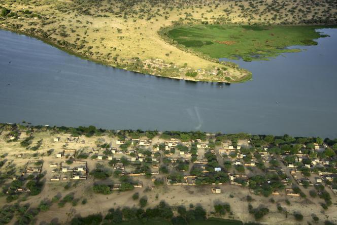 Vue aérienne du lac Tchad prise en 2016.