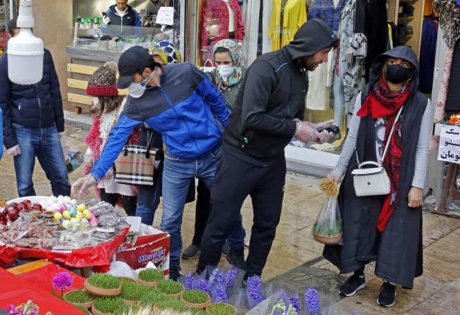 Au bazar de Tajrish à Téhéran, le 19 mars.