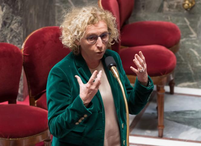 Muriel Pénicaud, ministre du travail, à l'Assemblée nationale,le 24mars.