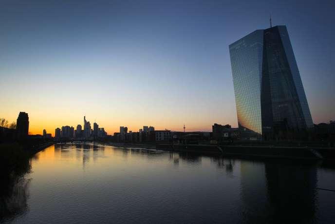 Le siège de la Banque centrale européenne (BCE), à Francfort-sur-le-Main (Allemagne), le 24 mars.