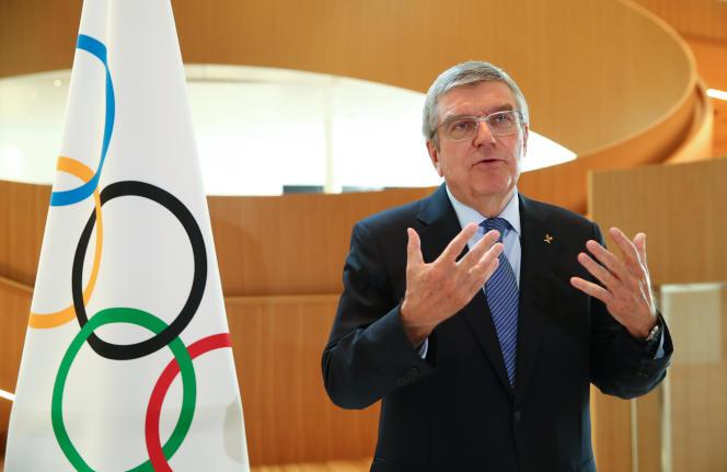 Thomas Bach, président du Comité international olympique, à Lausanne, le 25 mars 2020.