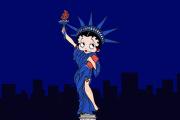 Betty Boop en statue de la Liberté.