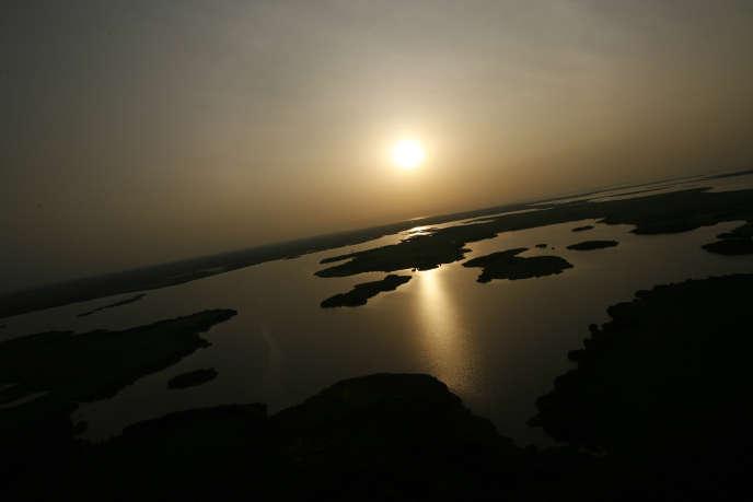 Le lac Tchad près de N'Djamena.