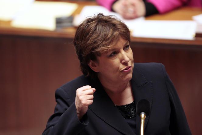 Roselyne Bachelot, alors ministre de la santé, à l'Assemblée nationale, à Paris, le 12janvier 2010.