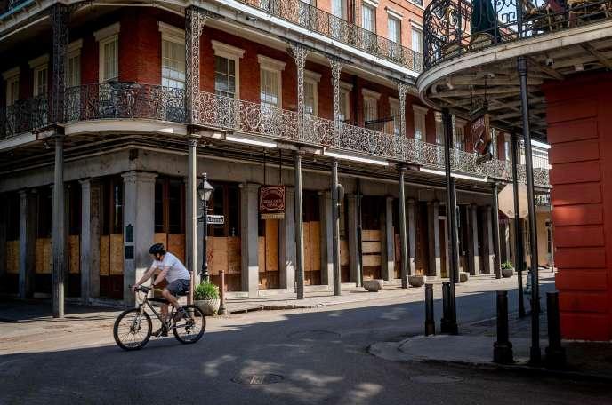 Dans les rues de La Nouvelle-Orléans (Etats-Unis), le 26 mars.