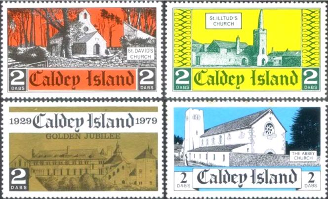 Timbres de Caldey island.