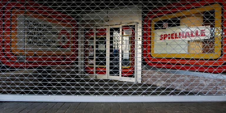 A closed gambling hall is seen during the outbreak of the coronavirus disease (COVID-19) in Cologne, Germany, March 17, 2020. REUTERS/Thilo Schmuelgen