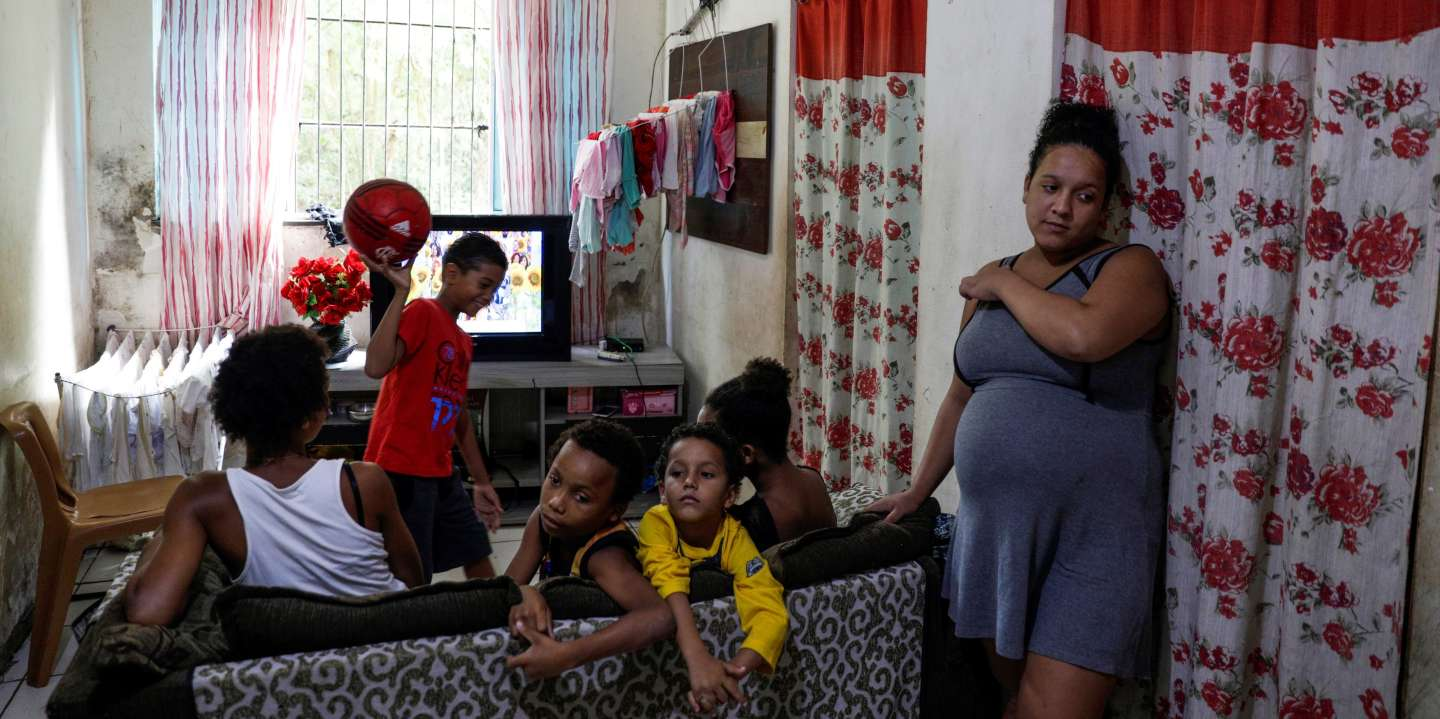 Estela Rosa, 19, who is 8 months pregnant, is pictured at her house where she lives with five other people in the Cidade de Deus slum, during the coronavirus disease (COVID-19) outbreak, in Rio de Janeiro, Brazil March 22, 2020. Picture taken March 22, 2020. About the risks of coronavirus in the favelas Estela Rosa said