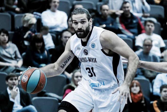 Alexandre Gavrilovic, cette saison avec le club du Tsmoki-Minsk, avant l'interruption des compétitions de basket.