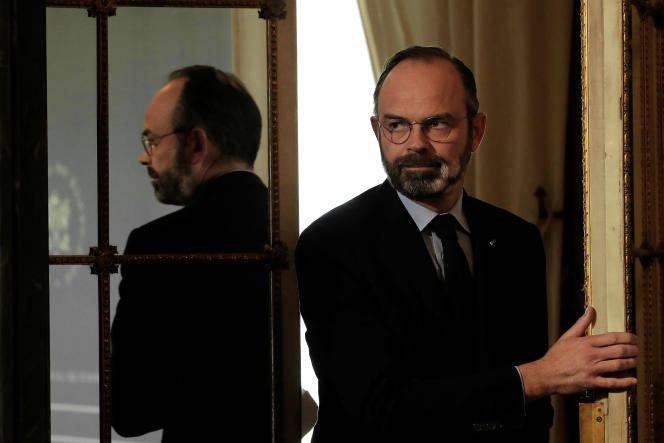 Le premier ministre, Edouard Philippe, le 27 mars. Christophe Ena/Pool via REUTERS