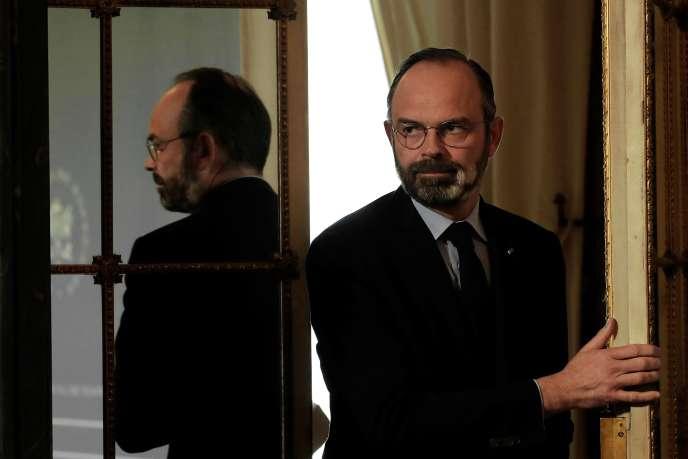 Le premier ministre, Edouard Philippe, à l'hôtelMatignon à Paris, le 27 mars.