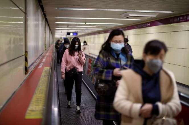 Dans le métro pékinois le 27 mars.