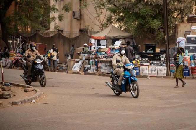 Une rue de Ouagadougou, le 16 mars 2020.