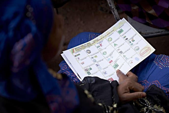A Bamako, le 23 mars, lors de la campagne électorale pour les législatives maliennes.