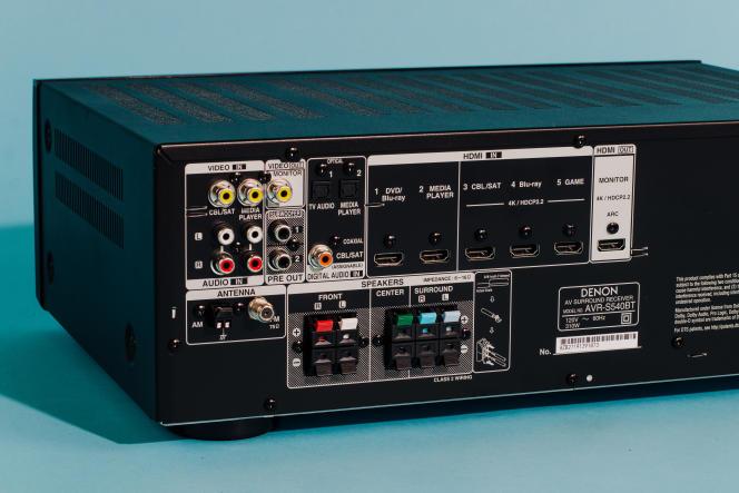 L'AVR-S540BT compte moins d'entrées que nos autres choix et n'intègre ni Wi-Fi, ni Ethernet, mais l'essentiel est là.