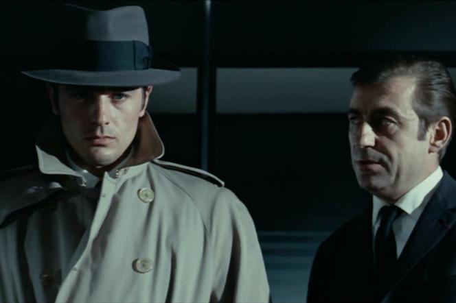 Alain Delon (Jeff Costello) et François Périer (le commissaire) dans«Le Samouraï» (1967), de Jean-Pierre Melville.