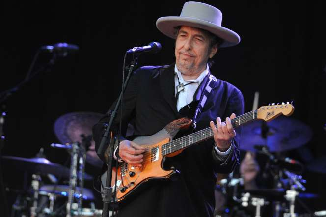 Bob Dylan au festival des Vieilles Charrues, àCarhaix (Finistère), le 22 juillet 2012.