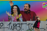 Une affiche du président nicaraguayen, Daniel Ortega, et de son épouse et vice-présidente Rosario Murillo, à Managua, Nicaragua, le 27 mars.