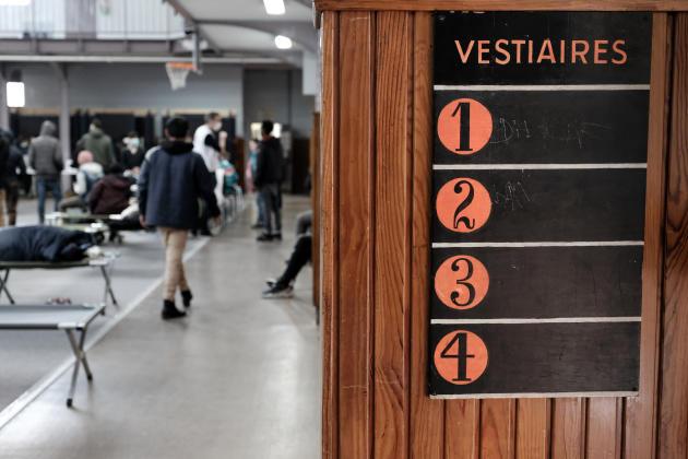 Dans le gymnase du 19ème arrondissement, à Paris, le 24 mars.