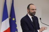 Le premier ministre Edouard Philippe lors d'une conférence de presse, à Paris, le 28 mars.