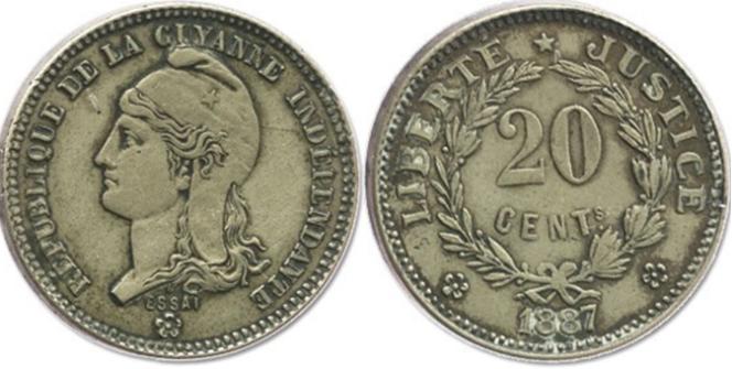 Monnaie de la République de Guyane indépendante (Counani).