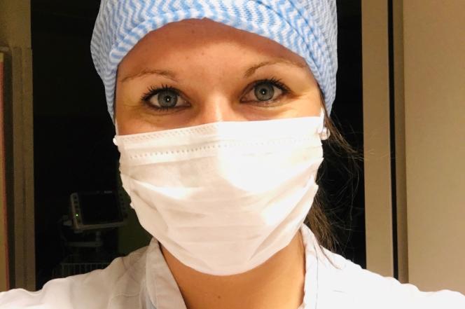 Angèle Vesin, infirmière aux urgences de l'hôpital Alpes-Léman de Contamine-sur-Arve (Haute-Savoie ).