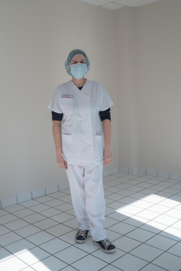 Anne-Cécile Bernicot, médecin en exercice à Plouzané, s'est portée volontaire au centre de consultation – Saint-Renan, le 27 mars.