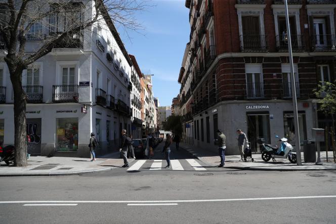 A Madrid, le 29 mars.
