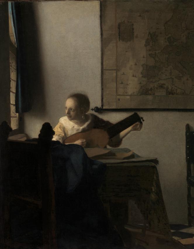 « Jeune femme au luth», par Johannes Vermeer, vers 1662.